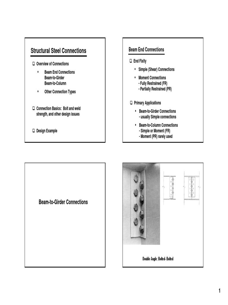 Engelhardt Steel Notes VI - Connections | Resistencia de materiales