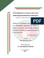 Elaboracion y Comercializacion de Necta de Maracuya