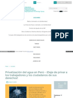 Www World Psi Org Es Privatizacion Del Agua en Peru Deje De