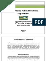 preliminary 7th grade science blueprint