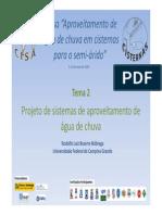 Projeto de Sistemas de Aproveitamento de Agua de Chuva - Rodolfo Luiz Bezerra Nobrega