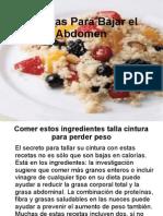 recetas sin grasa para adelgazar