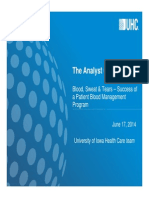 Analyst Cafe UIHC Strategies to Reduce Blood Utilization 6 17 2014