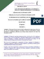 Decreto 129-99 Reglamento a La Ley 325 Creadora de Impuestos a Los Bienes de Origen Hondureños y