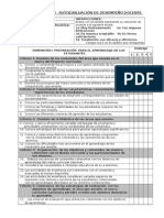 cuestionario de evaluacion de desempeño docente