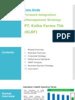 Forward Integration - Kalbe Farma