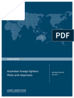 Australian Foreign Fighters Risks and Responses