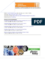 Diffusion Coefficients, Solubilities, And Permeabilities for He, N e