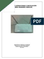 Manual de Operaciones e Instalación Bhs Huawei Hg532t