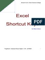 Excel ShortcutKeys