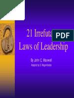 21 Laws of Leadership john maxwell