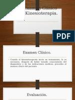 El Examen Clínico Del Kinesioterapia