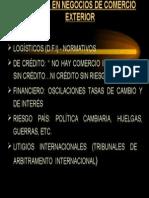 A. Riesgos en Comercio Internacional