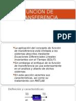 FUNCIÓN DE TRANSFERNCIA