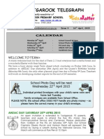 Newsletter 16th April