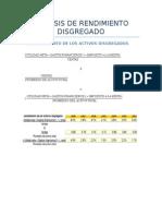 ANALISIS DE RENDIMIENTO DISGREGADO -  GRUPO N°10