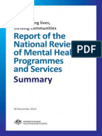 Review of Mental Health Programmes and Services