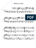 Rather Be Piano Sheet