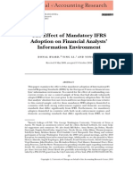 The Effect of Mandatory IFRS Adoption on Financial Analysts Information Environment