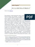 Es Publica La Escuela Publica