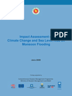 Study Report - Impact Assessment of CC and SLR on Moonson Flooding-2009