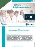 Tema 1-La Ortografía en La Lengua Española