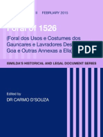 Foral de Costumes e Usos of 1526