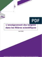 Contribution Enseignement des Langues dans les Filières Scientifiques