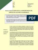RESULTADOS CASEN 2013