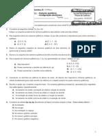 FT Numeros Quanticos. Configuracao Electronica
