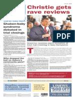 Asbury Park Press front page Thursday, April 16 2015