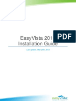 EASYVISTA 2013 Installation Guide