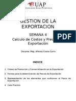 GESTION DE LA EXPORTACION - Semana 4 Calculo de Costos de Exportacion.pptx
