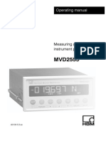 Measuring amplifier for instrument panel mounting