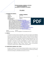 Syllabus Quimica General