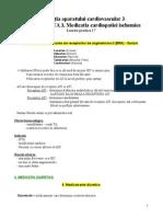 Lucrare Practica 17 - Medicatia Aparatului Cardiovascular 3 - Medicatia HTA 3, Medicatia Cardiopatiei Ischemice