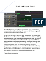 Logic Pro X Track or Region Based Automation