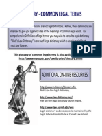 Glossary Common Legal