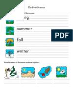 The Seasons - activities for children