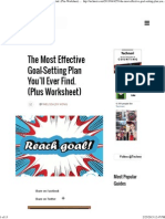 The Most Effective Goal-Setting Plan Ever