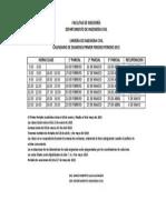 Calendario Examenes Primer Periodo 2015
