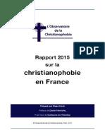 Rapport 2015 sur la christianophobie en France