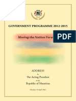 Government Programme 2012 2015 16April2012