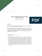 Reformas Administrativas Em Portugal Desde o Século XIX