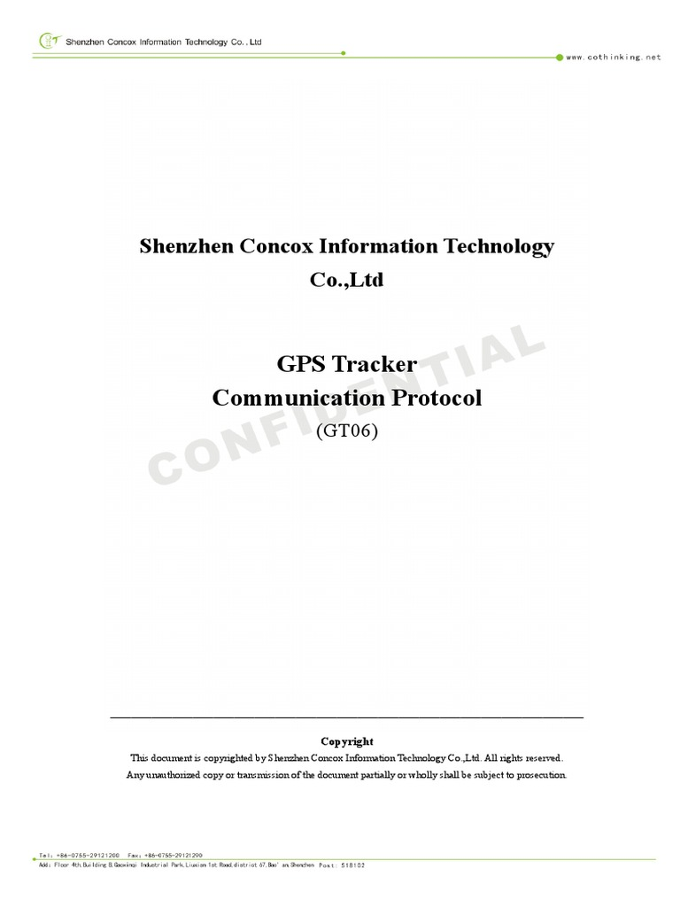 GT06 GPS Tracker Communication Protocol v1 8 1 | Network Packet