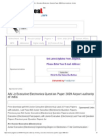 AAI Jr Executive Electronics Question Paper 2009 Airport Authority of India