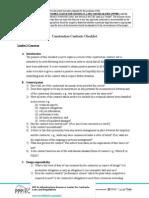 Construction Contracts Checklist En
