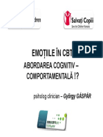 Emotiile in Cbt