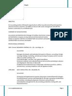 Accounting Sample Resume