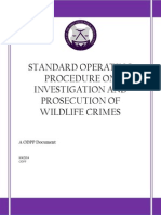 STANDARD OPERATING PROCEDURE ON INVESTIGATION AND PROSECUTION OF WILDLIFE CRIMES